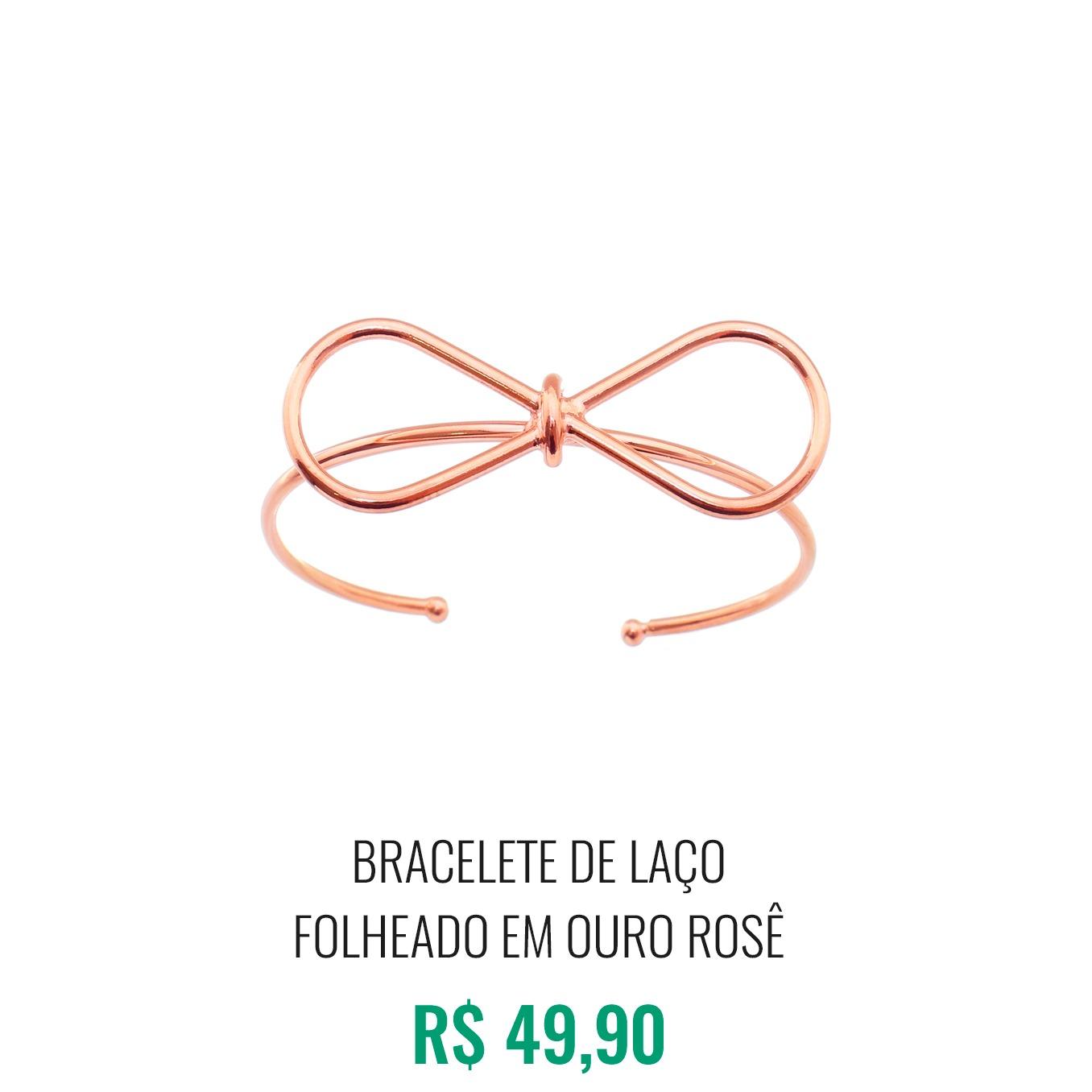 Bracelete Laço folheado em Ouro Rosê