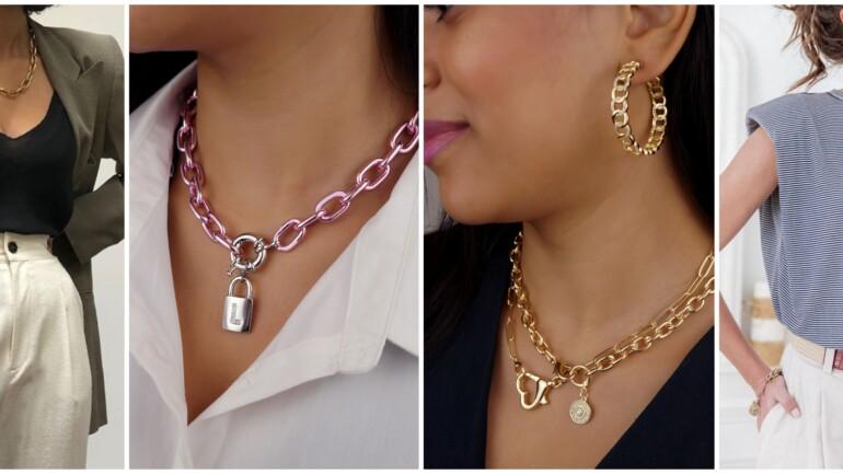 Como usar colares de corrente, o colar do momento!